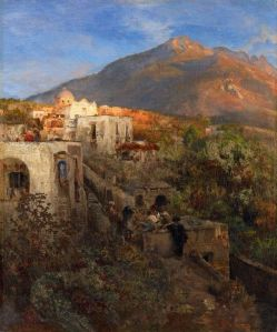 evening-on-ischia-with-view-on-the-mount-epomeo-oswald-achenbach-germany-1827